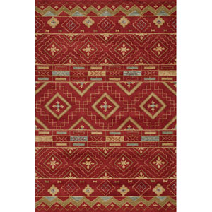 Habitat 10 Red Rectangular: 5 ft. x 8 ft. Rug