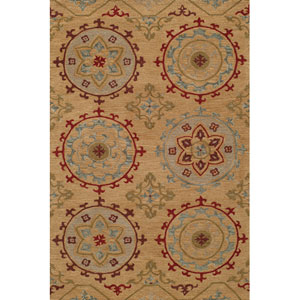 Habitat 11 Gold Rectangular: 5 ft. x 8 ft. Rug