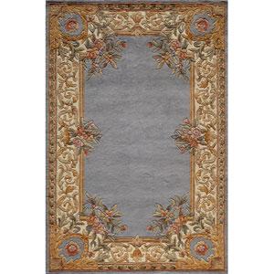 Harmony 07 Blue Rectangular: 5 ft. x 8 ft. Rug
