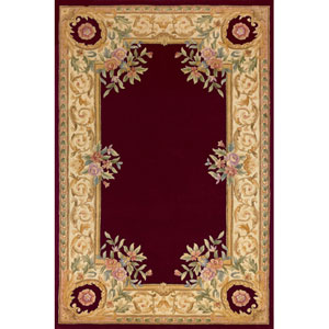 Harmony 07 Burgundy Rectangular: 5 ft. x 8 ft. Rug