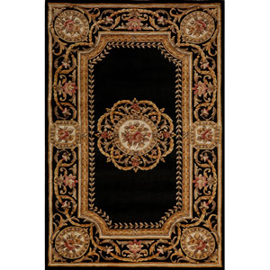Harmony 12 Black Rectangular: 5 ft. x 8 ft. Rug