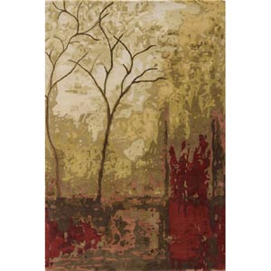Impressions Foliage Rectangular: 5 ft. 3 in. x 8 ft. Rug