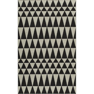 Laguna Black Rectangular: 2 Ft x 3 Ft Rug