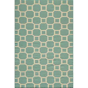 Laguna 01 Aqua Rectangular: 5 ft. x 8 ft. Rug