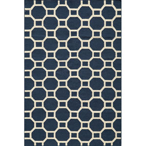 Laguna 01 Navy Rectangular: 5 ft. x 8 ft. Rug