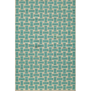 Laguna 02 Aqua Rectangular: 5 ft. x 8 ft. Rug