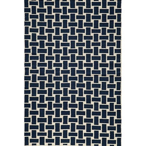 Laguna 02 Navy Rectangular: 5 ft. x 8 ft. Rug