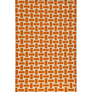 Laguna 02 Orange Rectangular: 5 ft. x 8 ft. Rug