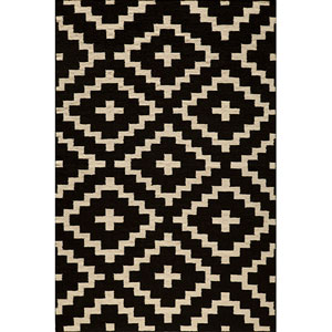 Laguna 04 Black Rectangular: 5 ft. x 8 ft. Rug