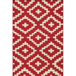 Laguna 04 Red Rectangular: 5 ft. x 8 ft. Rug