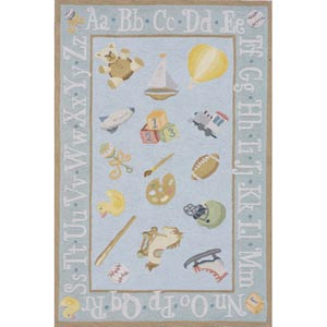 Lil Mo Classic Baby Blue Rectangular: 5 ft. x 7 ft. Rug