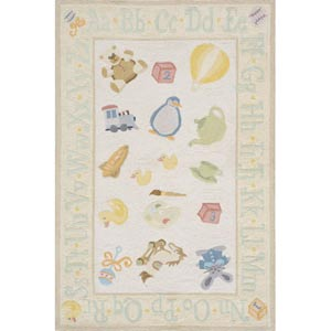 Lil Mo Classic Pale Yellow Rectangular: 5 ft. x 7 ft. Rug