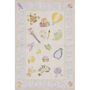 Lil Mo Classic Soft Pink Rectangular: 5 ft. x 7 ft. Rug