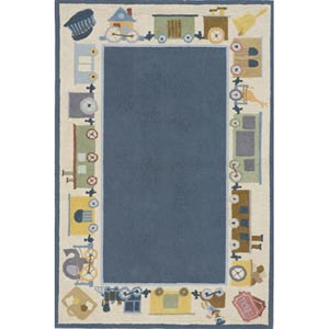Lil Mo Classic Blue Rectangular: 5 ft. x 7 ft. Rug