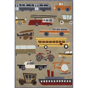 Lil Mo Whimsy Concrete Rectangular: 5 ft. x 7 ft. Rug