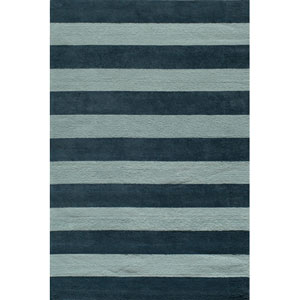 Lil Mo Classic 5 Cabana Stripe Blue Rectangular: 5 ft. x 7 ft. Rug