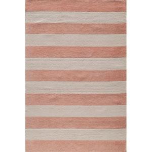 Lil Mo Classic 5 Cabana Stripe Pink Rectangular: 5 ft. x 7 ft. Rug
