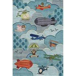 Lil Mo Whimsy Sky Rectangular: 5 ft. x 7 ft. Rug