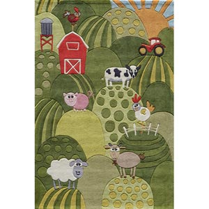 Lil Mo Whimsy Grass Rectangular: 5 ft. x 7 ft. Rug