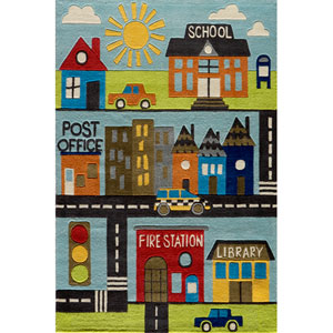 Lil Mo Whimsy 12 Town Rectangular: 5 ft. x 7 ft. Rug