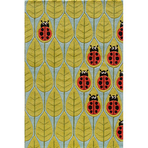 Lil Mo Whimsy 13 Lady Bug Red Rectangular: 5 ft. x 7 ft. Rug