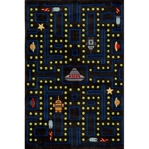 Lil Mo Whimsy 14 Arcade Black Rectangular: 5 ft. x 7 ft. Rug