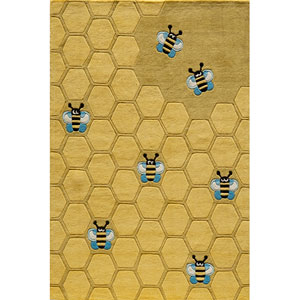 Lil Mo Whimsy 15 Honeycomb Gold Rectangular: 5 ft. x 7 ft. Rug