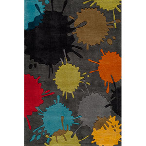 Lil Mo Hipster 9 Paint Ball Grey Rectangular: 5 ft. x 7 ft. Rug
