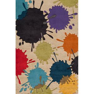 Lil Mo Hipster 9 Paint Ball Ivory Rectangular: 5 ft. x 7 ft. Rug