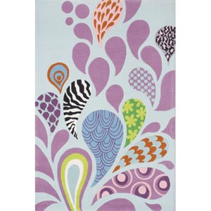 Lil Mo Hipster Funky Rectangular: 5 ft. x 7 ft. Rug