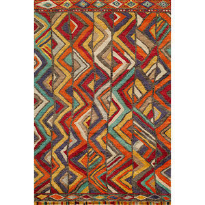 Madagascar Multi-Colored Rectangular: 5 Ft. 6 In.  x 8 Ft. 6 In. Rug