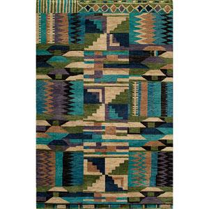 Madagascar Multi-Colored Rectangular: 5 Ft. 6 In.  x 8 Ft. 6 In. Rug