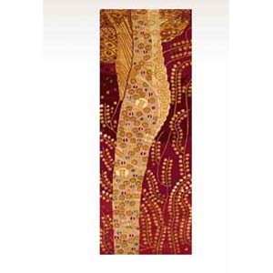 New Wave 01 Burgundy Runner: 2 ft. 6 in. x 8 ft. Rug