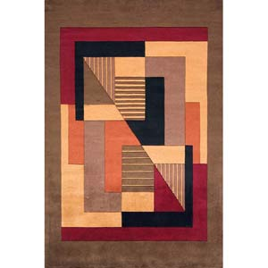 New Wave 06 Pomegranate Rectangular: 2 ft. x 3 ft. Rug