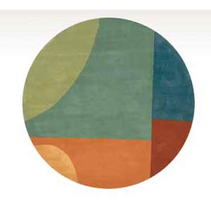 New Wave 15 Multi Round: 5 ft. 9 in. x 5 ft. 9 in. Rug