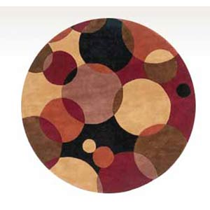 New Wave 37 Black Round: 5 ft. 9 in. x 5 ft. 9 in. Rug