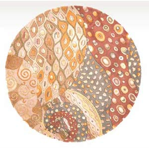 New Wave 71 Natural Round: 5 ft. 9 in. x 5 ft. 9 in. Rug
