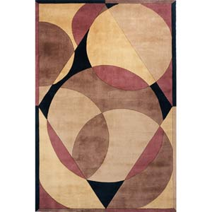 New Wave 78 Brown Rectangular: 5 ft. 3 in. x 8 ft. Rug