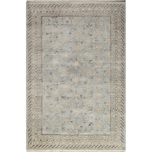Palace Light Blue Rectangular: 5 Ft 6 in x 8 Ft 6 in Rug