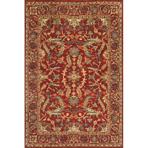 Palace Red Rectangular: 5 Ft. 6 In.  x 8 Ft. 6 In. Rug