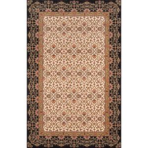 Persian Garden Charcoal Rectangular: 5 Ft. x 8 Ft. Rug