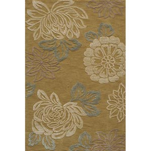 Sensations Gold Rectangular: 5 ft. x 7 ft. 6 in. Rug