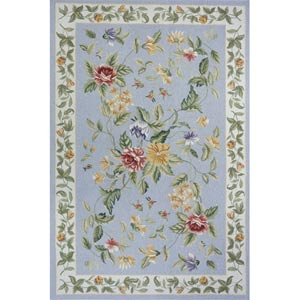 Spencer Blue Rectangular: 8 ft. x 11 ft. Rug