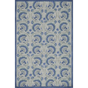 Summit Blue Rectangular: 2 Ft x 3 Ft Rug