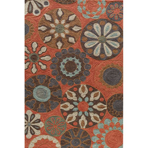 Summit 3 Terra Cotta Rectangular: 5 ft. x 7 ft. 6 in. Rug