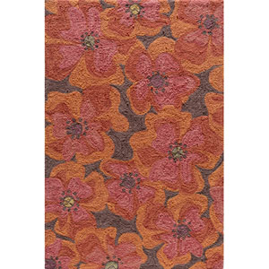 Summit 9 Raspberry Rectangular: 5 ft. x 7 ft. 6 in. Rug