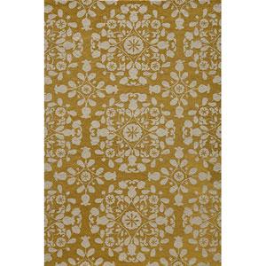 Suzani Hook 4 Gold Rectangular: 5 ft. x 8 ft. Rug