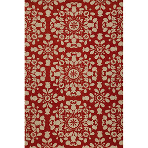 Suzani Hook 4 Red Rectangular: 5 ft. x 8 ft. Rug