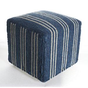 Veranda Blue 18-Inch Ottoman