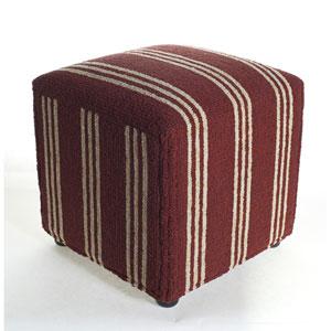 Veranda Red 18-Inch Ottoman